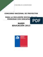 Bases Fondos Concursables Educacion 2013