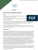 Solar Market Insight Report 2012