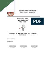 Formato de Presentacion Del Trabajo de Investigacion