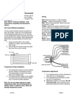 Install Instr - Fan Controller PN 733647