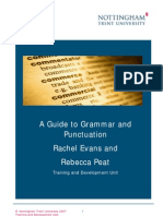 W11 a Guide to Grammar and Punctuation