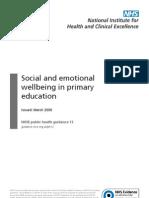 Bienestar Social y Emocional en Primaria Nice