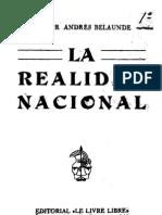 Víctor Andrés Belaúnde - La Realidad Nacional 1931