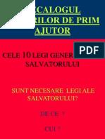 6. Legile salvatorului