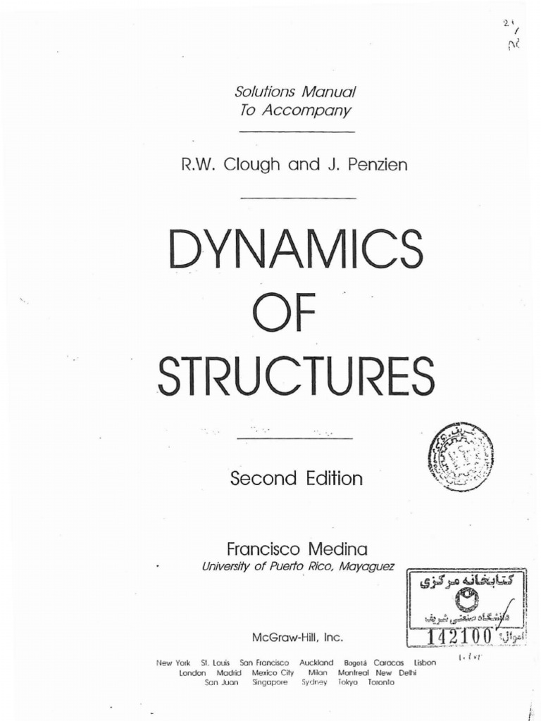 solutions manual dynamics of structures r w clough and j penzien rh es scribd com dynamics of structures chopra 4th edition solutions manual dynamics of structures 3rd edition chopra solutions manual