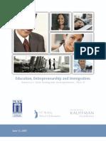 Education, Entrepreneurship and Immigration