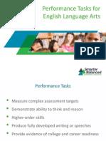 Performance Tasks for English Language Arts
