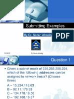 Submitting Examples -Dr. SENAN