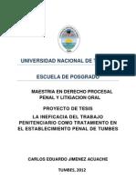 Proyectotesistrabajopenitenciariocomotratamiento Jimenez 120814193304 Phpapp01