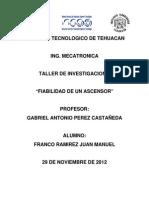 Fiabilidad de Un Ascensor- Franco Ramirez Juan MAnuel