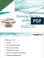 Evolving the Java Platform