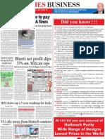 VCs Shy Away From Biotech TOI Bangalore 6 May 2011 Page 21