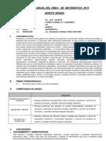 Programa Anual del Área de Matemática 2013 - JCA