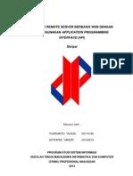 Aplikasi Remote Server Berbasis Web Dengan Metode Application Programming Interface (API) Sampul