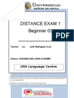 Distance Exam1 b3 April