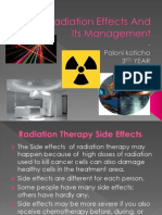 Post Radiation Effects and Its Prevention