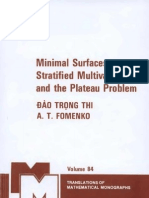 Minimal Surfaces, Stratified Multivarifolds, And the Plateau Problem(Thi & Fomenko)