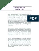 Gustav Klimt Biography