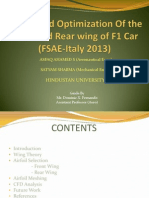 Design and Optimization of the Front and Rear wing of an F1 car