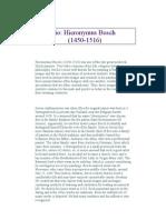 Hieronymus Bosch Biography
