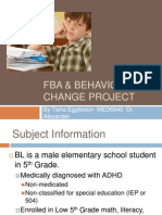 FBA & Behavior Change Project