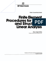 Finite Element for Solids and Structures Linear Analysis Bathe 194p