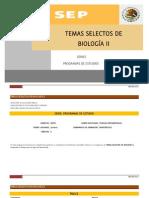 Temas Selectos de Biologia II
