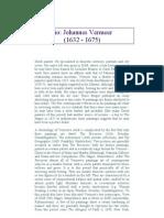 Johanes Vermeer Biography