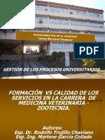 Formacion vs Calidad Servicios Carrera Medicina Veterinaria Zootecnia