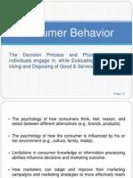 Consumer Behavior Intro