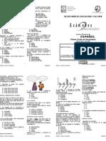 Examen Primer Grado IV Bimestre Espanol