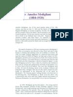 Amadeo Modigliani Biography