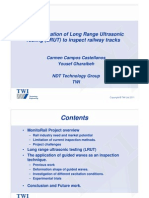 The Application of Long Range Ultrasonic Testing (LRUT) to Inspect Railway Tracks