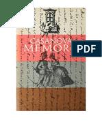 CASANOVA -  Memorii