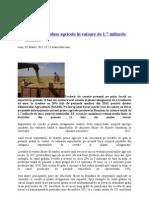 Exporturi de produse agricole în valoare de 1,7 miliarde de euro