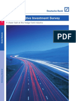 2009 Deutsche Bank Alternative Investment Survey