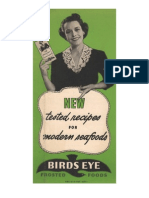 New Tested Recipes for Modern Seafoods.  Birds Eye Frosted Foods.  1938