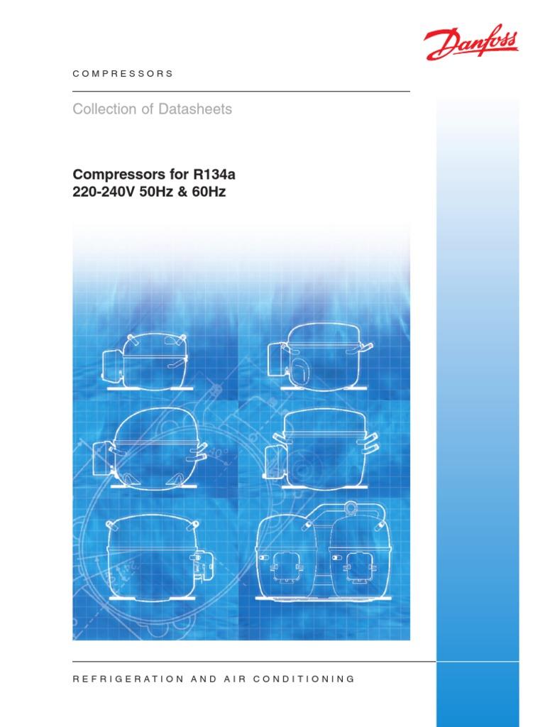 Danfoss Sprezarki R-134 Katalog | Refrigerator | Gas Compressor on