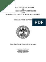 2006 Humphreys County Comptroller Report