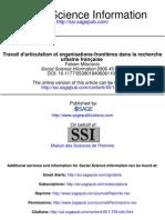 Travail d'articulation et organisations-frontières dans la recherche