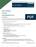Active Directory  Procedures