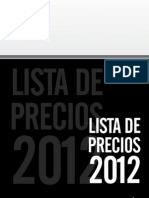 BCT 031 LP014 Lista de Precios 2012 BOHN