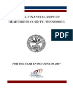 2007 Humphreys County Comptroller Report