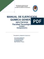 Manual de Ejercicios Química General - Unidad I Estequiometría