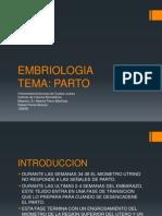 Embriologia Parto
