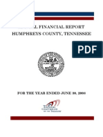 2008 Humphreys County Comptroller Report