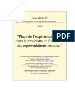 Jodelet Place Experience Processus