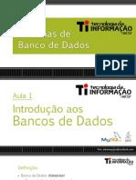 Introdução aos bancos de dados