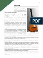 Historia de la Guitarra Española