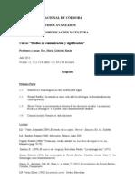 Programa Medios de Comunicación y Significación - 2013